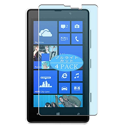 VacFun 4 Pezzi Anti Luce Blu Pellicola Protettiva, Compatibile con Nokia Lumia 820 (Non Vetro Temperato) Protezioni Schermo Cover Custodia New Version