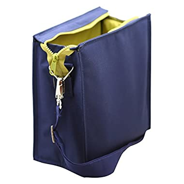 U Konserve - Insulated Lunch Tote, Sustainably Sourced, Keeps Food at Perfect Temperature, Machine Washable (Large, Navy)