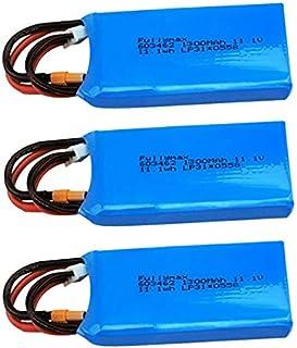 SNOWINSPRING 3S 11.1 V 1300 mAh Batteria Lipo per XK X450 FPV RC Drone Ricambi 11,1 V Batteria Lipo Ricaricabile XT30