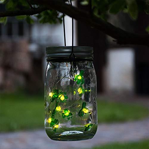 LED Außen Solar Einmach-Glas Lampe Party Kakteen-Lichterkette Garten Balkon Veranda Hänge Pendel Leuchte Dekoration Globo 33129-16_Kakteen