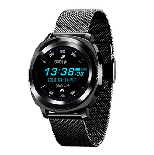 ZSP Smart Watch Sporthorloge, armband, gezondheids-hartslag-gezondheidsmonitor, IP68 waterdicht, bluetooth-antwoordende telefoon, zwart