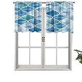 Hiiiman Cenefa recta, panel de cortina de alta calidad con bolsillo para barra, diseño ombre, juego de 2, 137 x 61 cm, ideal para cualquier habitación y dormitorio