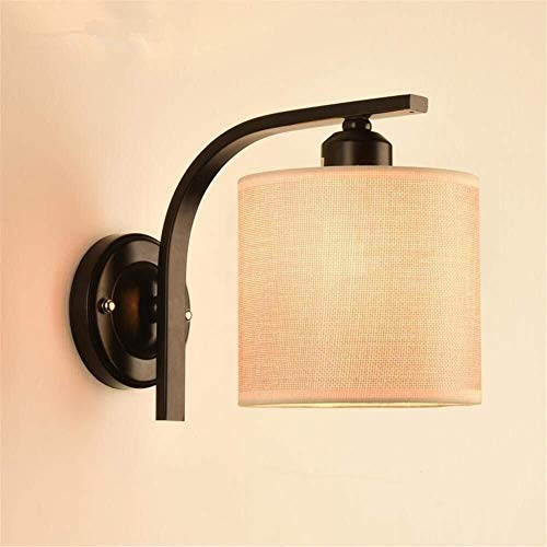 ZHENYUE Zhenyue wandverlichting moderne leeslamp E27 bedlampje van metaal en stof lampenkap woonkamer slaapkamer hotel muur oppervlak Mounted schubben Decoratie verlichting montage ZHENYUE