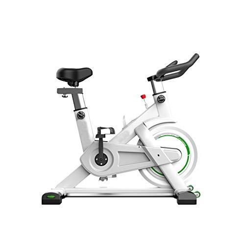 DUTUI Bicicletas De Spinning, Equipamiento Deportivo para Ciclismo, Equipamiento De Fitness para El Hogar, Fitness En Interiores Ultra Silencioso, Gran Transmisión por Correa De Volante,Blanco