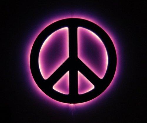 - Peace Sign Led Silhouette