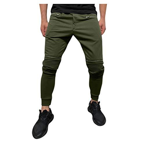 Luotuo Cargo Hose Herren Jogginghose Trainingshose Sport Fitness Gym Training Slim Fit Sweatpants Outdoors Freizeit Jogging-Hose Multi-Pocket Pants Knöchellange Hosen