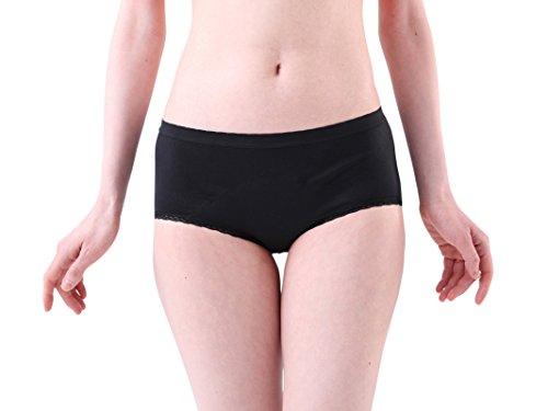 【エヴァウェア】超吸収型サニタリーショーツ 吸収する生理用ショーツ 軽失禁にも ボーイショーツ (XL)