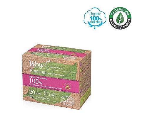 Wow 100% Biologisch Katoen Panty Liners voor Vrouwen, USDA Gecertificeerd Katoen Dagelijks Geparfumeerde Lange Maat Pantiliners Natuurlijke Ademend, Hypoallergeen 6.9