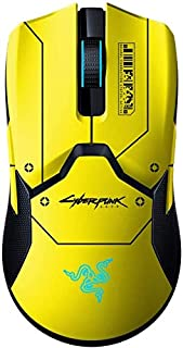 Razer Viper Ultimate with Charging Dock - Cyberpunk 2077 Edition, Ambidextrous Gaming Mouse with Razer Hyper Speed Wireles...