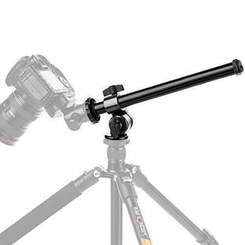 K&F Concept Mittelsaeule Auslegearm Kameraauslegearm 32cm mit Spigot 1/4 Zoll u. 3/8 Zoll Belastbarkeit 5KG schwarz