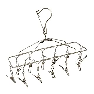 Honey-Can-Do DRY-01102 Clothes Drying Hanger Rack with 12 Clips, Chrome (B002M3SP3W) | Amazon price tracker / tracking, Amazon price history charts, Amazon price watches, Amazon price drop alerts