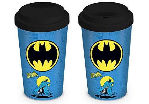 Pyramid International DC Comics (Batman) Reisebecher, Keramik, Mehrfarbig, 9.5 x 9.5 x 15 cm