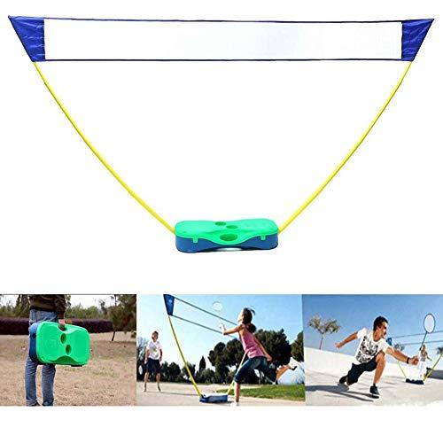 Dongbin Tragbare Badminton-Set, Außen Folding Adjustable Badmintonnetz Mit/Stand, Carry Box, Für Outdoor Hinterhof Training, Ballspiele Im Freien Mannschaftssport,Badminton Racket