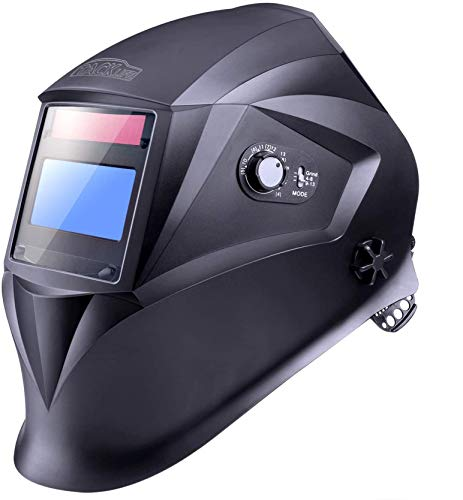 Welding Helmet, TACKLIFE with 4 Independent Shade Filter Sensors, Full Shade Range 4/4-8/9-13,...