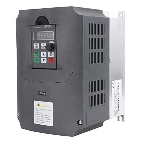 Unidad de frecuencia variable, controlador de velocidad de motor trifásico de 11KW Suministros industriales, adecuado para sitios de construcción, máquinas herramienta, equipos de automatización, 220v
