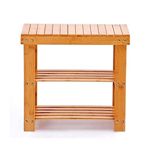 CAMILYIN Zapatero de bambú, organizador de almacenamiento de 3 niveles, estante de almacenamiento, ideal para entrada, sala de estar, pasillo, 50 x 28 x 45 cm