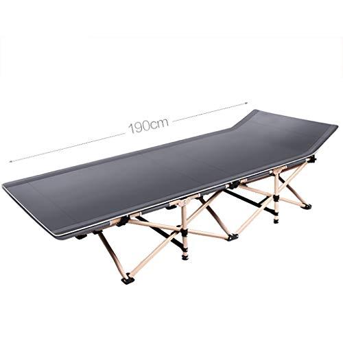 WXF Plegable para Acampar Cama 150 kg acampa Plegable Cama reclinable Tumbona Holiday Garden Beach Patio Salón al Aire Libre de Descanso de la Gravedad Cero Soporte de la Silla (Color : Black)