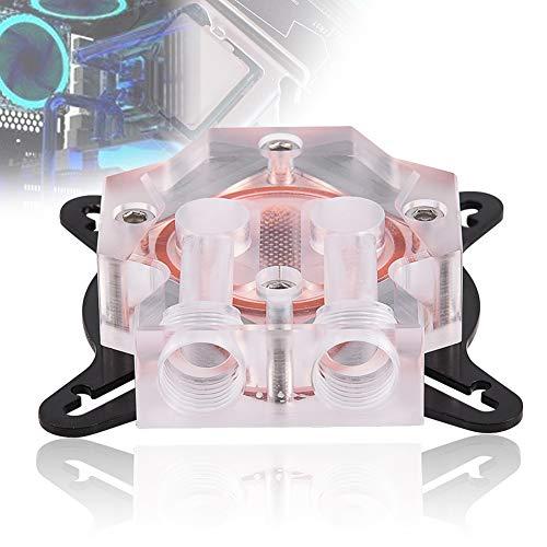 Mavis Laven GPU Kühler, Universal Wasserkühler Kühler mit 40MM Kupferbasis für Computer PC GPU