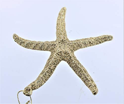 Kurt Adler 5' Acrylic Gold Glitter Starfish Ornament