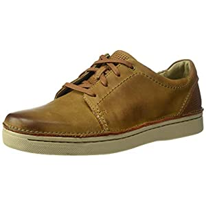 Clarks Men's Kitna Stride Sneaker, Tan Leather