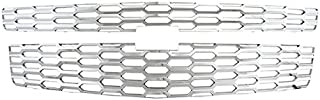 Front Grille Inserts Overlay Trim for 2015-2019 Chevy Tahoe-Chrome Snap On Mesh Screen - Car, Truck, Van & Jeep Accessories