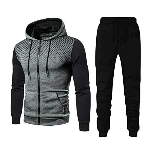 Youngnet 2021 Nouveau Survêtements Homme Manches Longues Zipper Ensemble Jogging Hommes Sport Costume Causal Combinaison Vêtements Sweat à Capuche Et Pantalons 2 Pièces