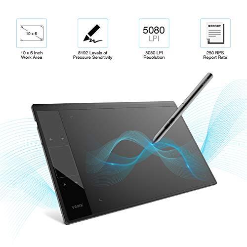 Tableta Gráfica, VEIKK-A30 Tableta Gráfica Portátil...