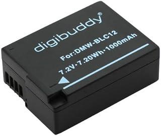 digibuddy Akku für Panasonic DMW BLC12 Li Ion Schwarz