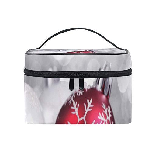 Sac de maquillage Décorations de Noël Sac cosmétique Grand sac de toilette portable pour les femmes/filles Voyage