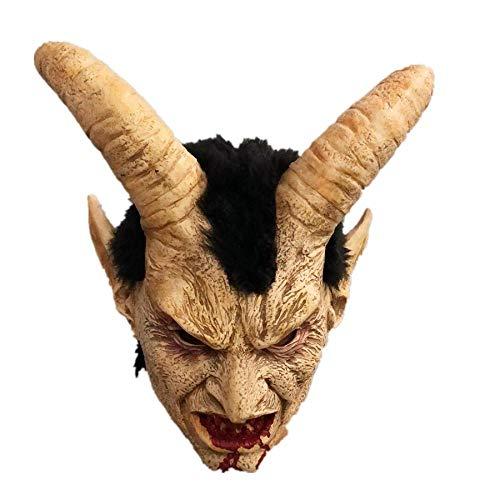 XWYWP Mscara de Halloween Mascarilla de ltex Mscaras de Halloween Disfraz de demonio miedo pelcula cosplay Horrible mscara Adultos Partido Props A1