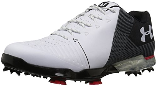 Under Armour Men's Spieth 2 Golf Shoe, White(100)/Black, 10 2E US