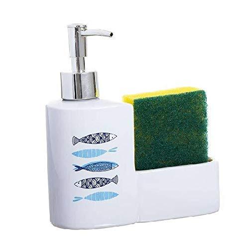 Dcasa Estropajo Dispensadores Integrados en la encimera Alfombrillas Accesorios para bañera Decoración del hogar Unisex Adulto, Color, única