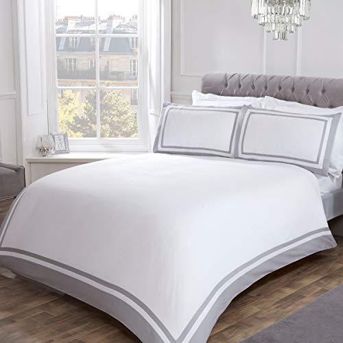 copripiumino matrimoniale 400 fili Sleepdown - Set di biancheria da letto con copripiumino e federe