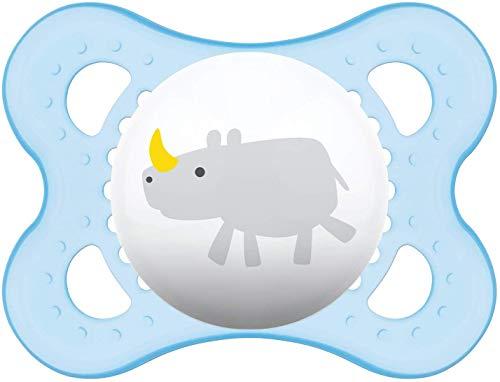 MAM Sucette Décor 'ANIMAUX' - de 0 à 6 mois - Silicone - Lot de 2 sucettes en boîte de stérilisation - coloris aléatoire