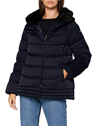 Geox Womens W CHLOO Parka, Blue Nights, 44