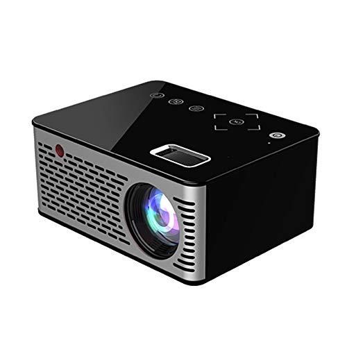 Mini-Heimprojektor, Micro-LED-Cinema-tragbarer HD-Videoprojektor HDMI USB für Heimkino Kurzer Fokus-Design-Tastenkombinationen-Bildschirm, externer Power Bank-Stand