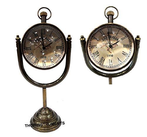 THORINSTRUMENTS (with device) Maritime Antique Brass Desktop Clock Nautical Gifting Item 1930 Australia