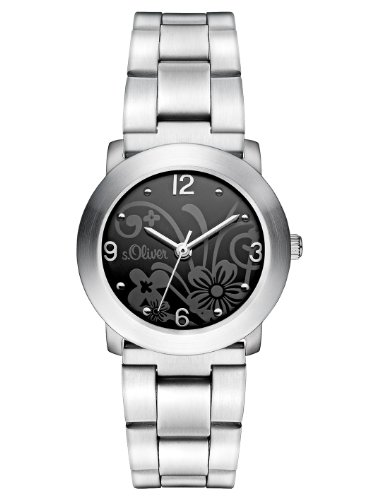 s.Oliver Damen-Armbanduhr XS Analog Quarz Edelstahl SO-2793-MQ