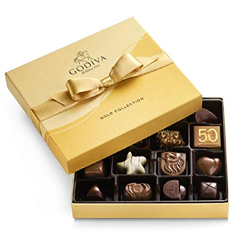 GODIVA Chocolatier Chocolate Gold Gift Box Assorted 19 Count