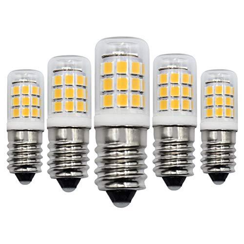 E14 Kleine Edison-Schraub-LED-Birne Warmweiß 3000K, 3W Ersatz-Halogenbirne 30W, 300LM Nicht dimmbar, AC 220V-240V, für Nachtlicht, Glühlampen für Dunstabzugshauben - 5er-Pack