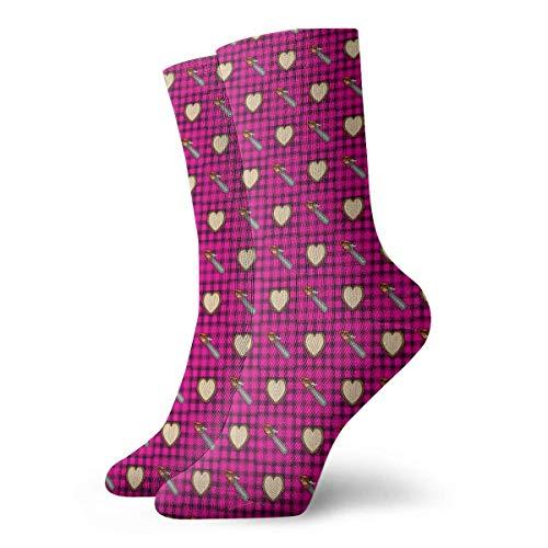 Tammy Jear Kettensägen Liebe Holzschnitzerei Männer Frauen Mode Süße Neuheit Lustige Casual Art Crew Socken