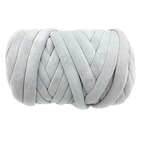 Super Vegan Velvet Chunky Yarn, 21 Yards Acrylic Bulky Thick Roving Softee Jumbo...