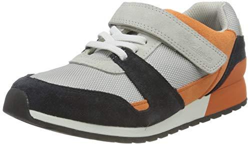 Clarks Mädchen Retro Bustle K Sneaker, Light Grey Combi Suede, 35 EU thumbnail