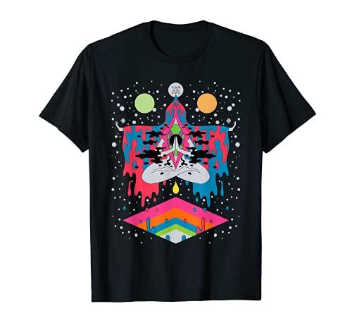 Psicodélico Abstracto Arte Desnudo Hippie Trippy Regalo Camiseta
