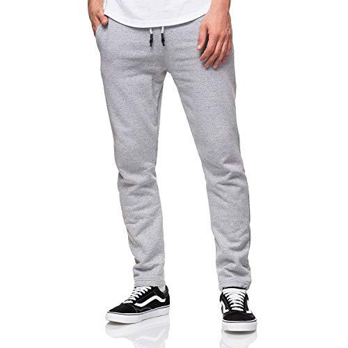 Smith & Solo Smith Solo Jogginghose Herren Jogger Männer Modern Baumwolle Jungen Slim Fit Freizeithose Sporthose, XL, Grau / Gerade