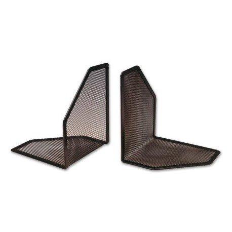Q-Connect Apoyalibros Metálico rejilla Color Negro -Juego