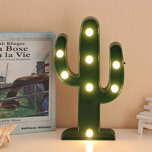 Lámpara de noche LED con cactus 3D, romántica, bombilla verde, luz de día festivo, luz nocturna para habitación de bebé, decoración de habitaciones