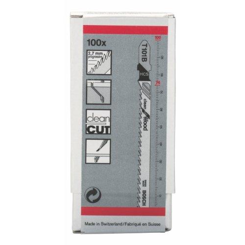 Bosch 2 608 637 876 - Hoja de sierra de calar T 101 B - Clean for Wood (pack de...