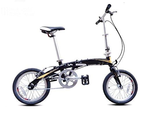 MASLEID 16 Zoll Aluminium Klapprad Einzel Geschwindigkeit Faltrad Mini-Bike, Black Purple