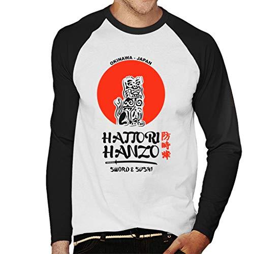 Kill Bill Hattori Hanzo Sword and Sushi Men's Baseball Long Sleeved T-Shirt
